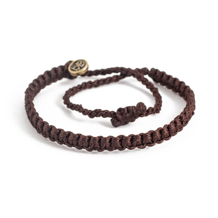 Andel Chocolate Brown Knotted Charity Bracelet Cover