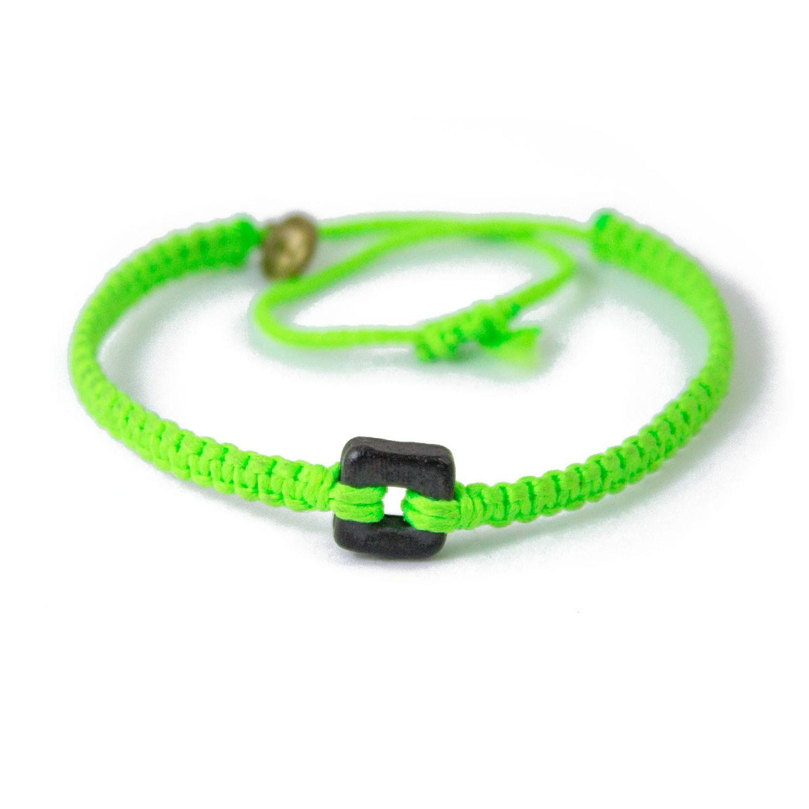 Black Raymi Bright Green bracelets that fight poverty cover