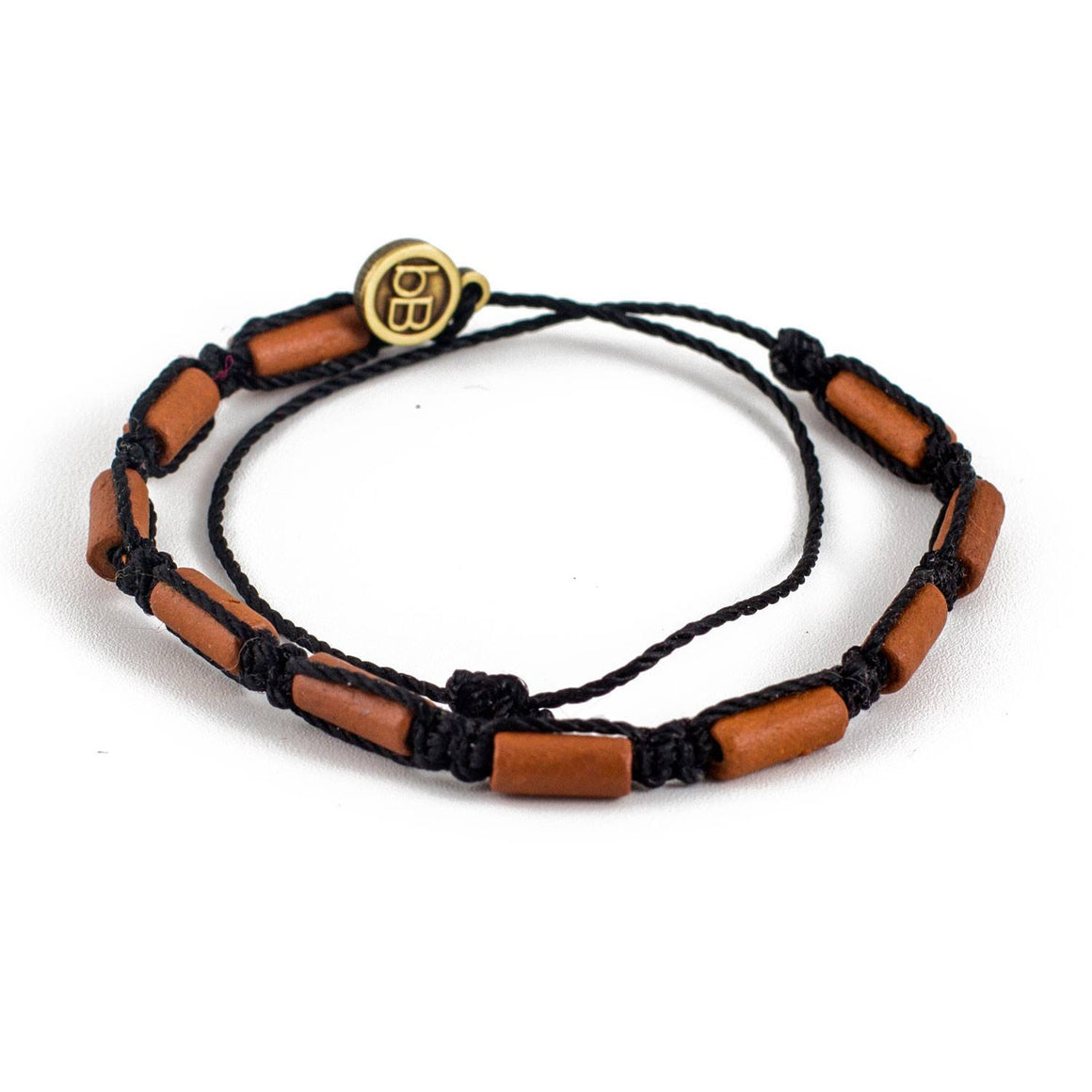 Brown Sisa Carbon Black tribal macrame bracelets cover