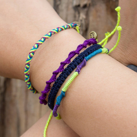 Chullpa Violet Purple tribal bracelets cover