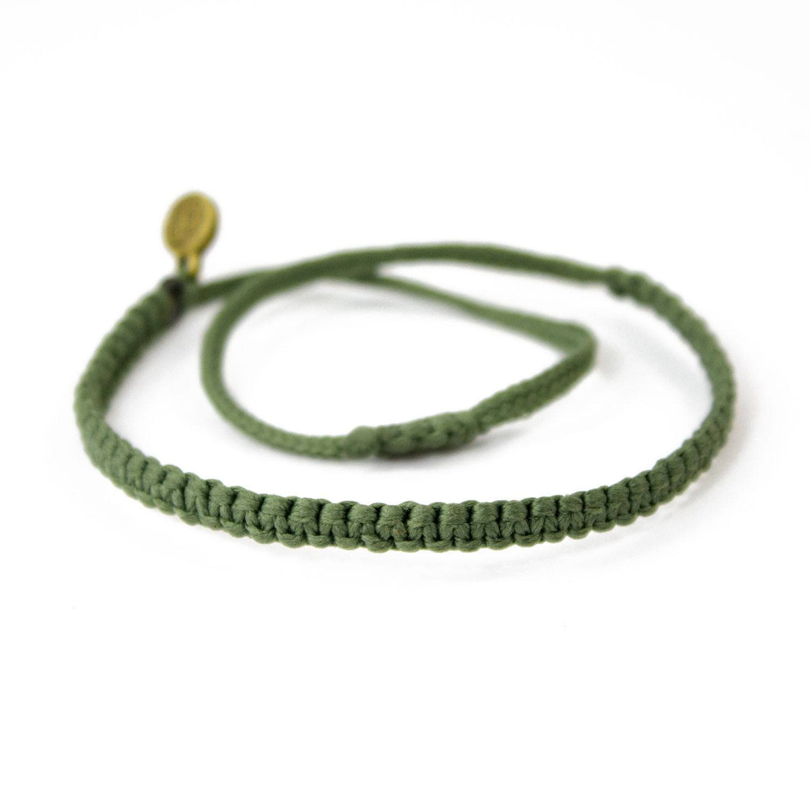 Andel Olive Green Knotted Charity Bracelet Cover