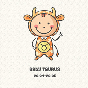 Baby Taurus Zodiac Star Sign Greeting Card