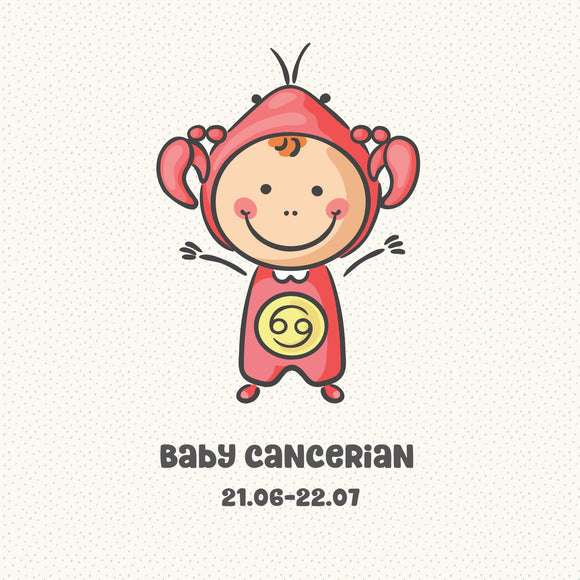 Baby Cancerian Zodiac Star Sign Greeting Card
