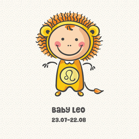 Baby Leo Zodiac Star Sign Greeting Card