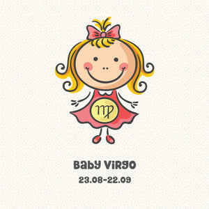 Baby Virgo Zodiac Star Sign Greeting Card