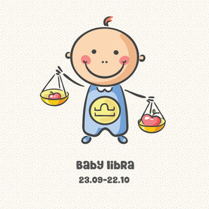 Baby Libra Zodiac Star Sign Greeting Card