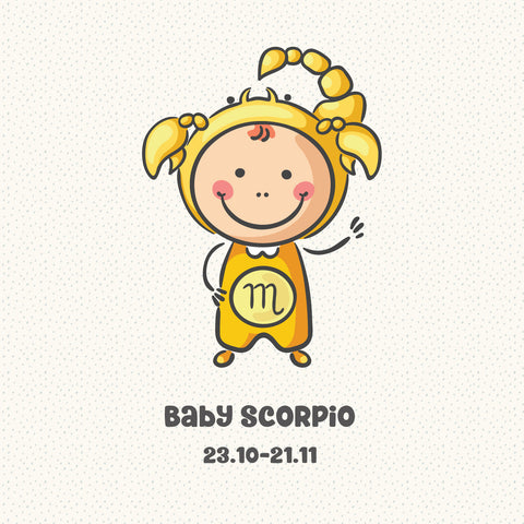 Baby Scorpio Zodiac Star Sign Greeting Card