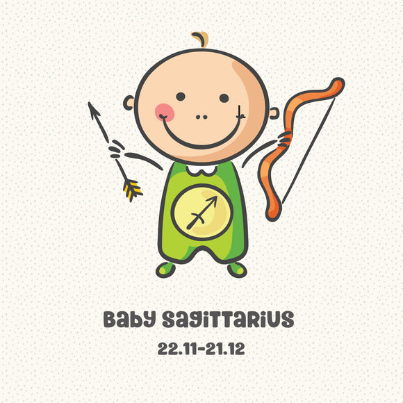 Baby Sagittarius Zodiac Star Sign Greeting Card