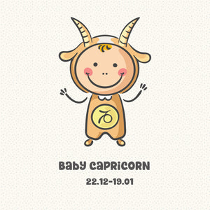 Baby Capricorn Zodiac Star Sign Greeting Card