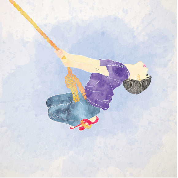 Childhood Memories, Swing, Blank Greeting Card