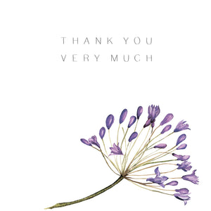 Thank You Very Much Purple Flowers