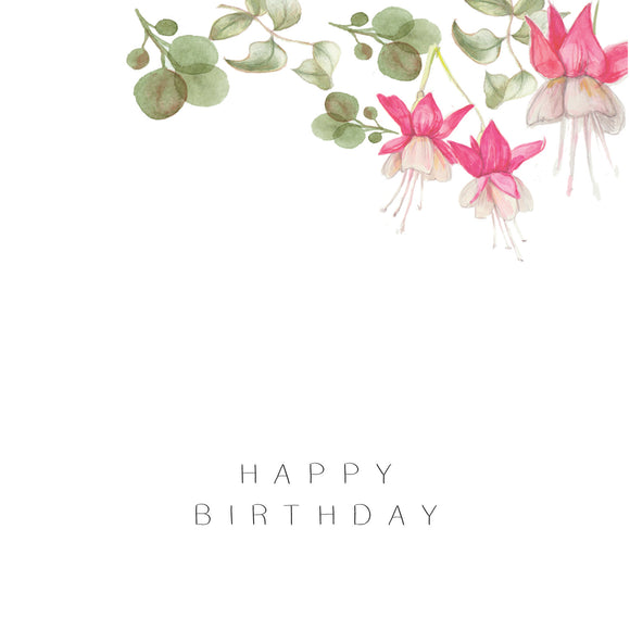 Happy Birthday Pink Flowers