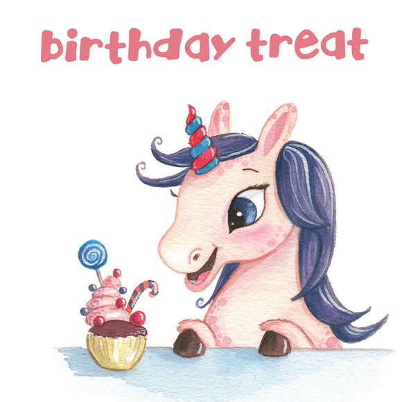 Birthday Treat Cupcake Unicorn
