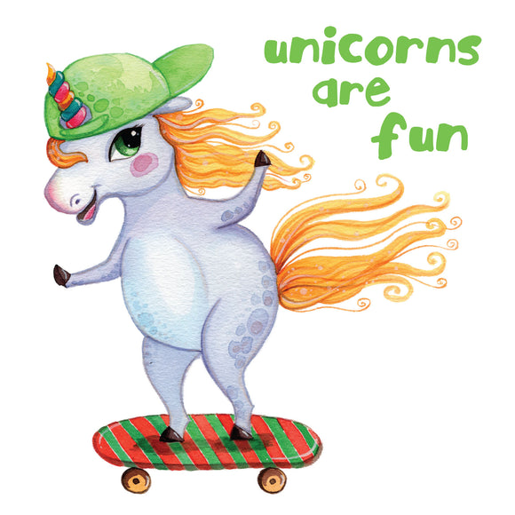 Unicorns Are Fun Skateboarder