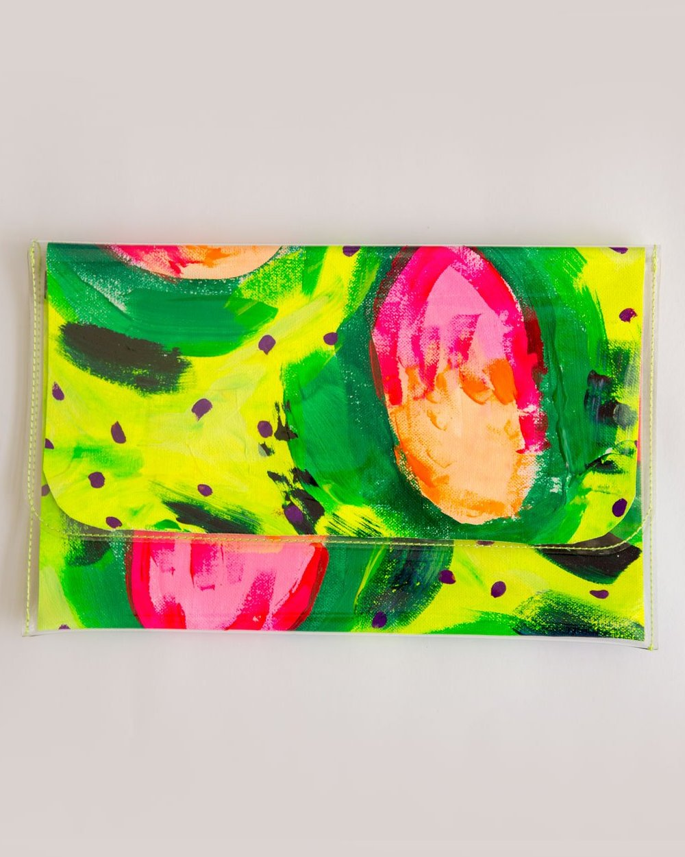 Watermelons and Sunshine clutch - original artwork