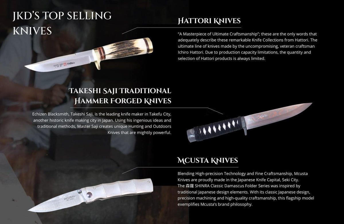 JKD's TOP SELLING KNIVES