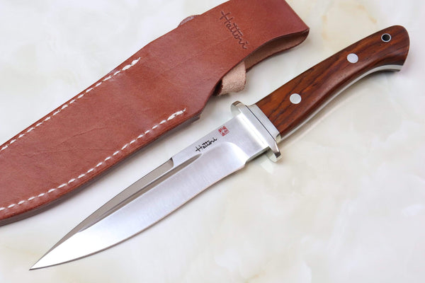 Hattori FT-100C Fighters (Cocobolo Wood Handle) - JapaneseKnifeDirect.Com