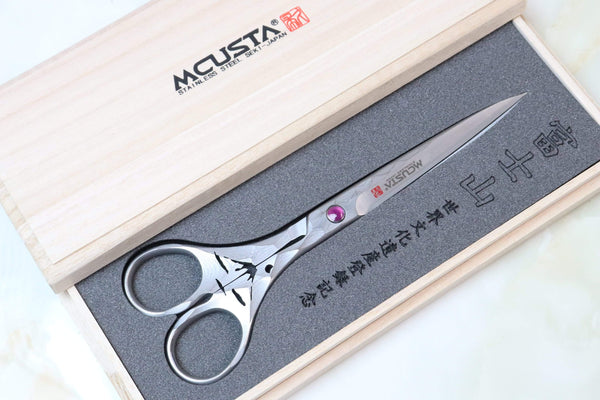 "Mcusta DDF-170D ""Mt.FUJI"" Damascus Scissors - JapaneseKnifeDirect.Com"