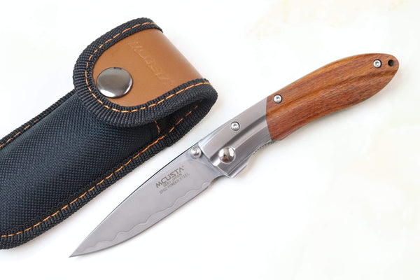 Mcusta SHINRA 森羅 Premium Series MC-141G RIPPLE SPG-2 San Mai (Desert Ironwood Handle) - JapaneseKnifeDirect.Com