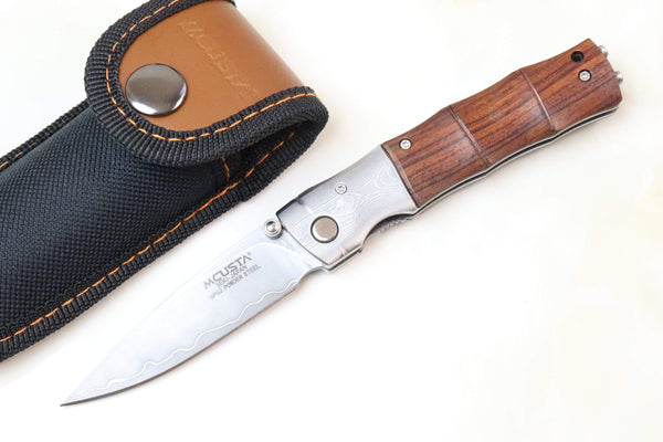 Mcusta SHINRA 森羅 Premium Series MC-145G BAMBOO SPG-2 San Mai (Desert Ironwood handle) - JapaneseKnifeDirect.Com