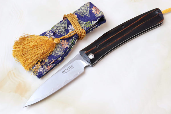 "Mcusta Traditional Folder Series MC-192C HIGONOKAMI Style Folder ""VG-10 Clad"" - JapaneseKnifeDirect.Com"