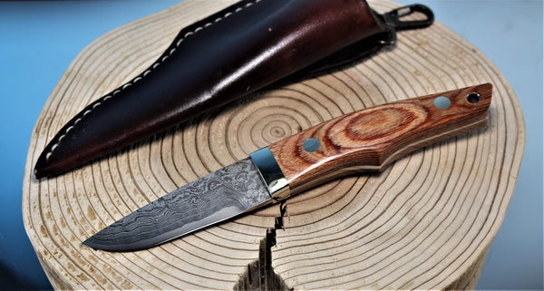 "Mr. Itou  IT-1 Utility Hunter ""Brown Laminated Ply Wood Handle"""