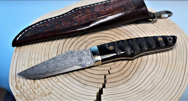 "Mr. Itou  IT-9 Utility Hunter ""Water Buffalo Horn Handle"""