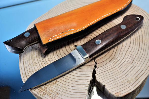 "Seizo Imai by Inagaki SI-19 ""LOVELESS Drop Hunter"", RS-30 Blade, Ebonywood , Rosewood or Jacaranda wood Handle"""