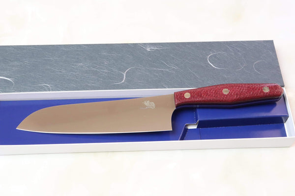 Toshiyuki Takahashi Custom Kitchen Knife TT-2 Santoku 180mm (7 Inch)