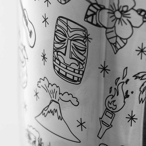 Coctelera Boston Tiki Pattern Tin on Tin 75 cl - utensilioscocteleria