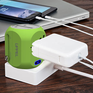 New Universal Travel Adapter All in One International Adapter Socket Worldwide Wall Charger with USB/Type C for US/AU/Asia/EU/UK