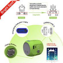 Load image into Gallery viewer, New Universal Travel Adapter All in One International Adapter Socket Worldwide Wall Charger with USB/Type C for US/AU/Asia/EU/UK