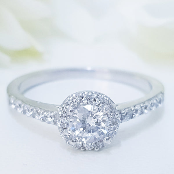 Silver Halo Ring