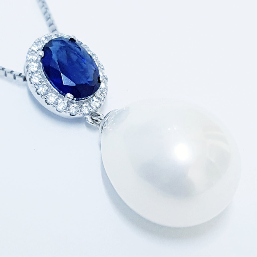 Silver Pendant with Pearl