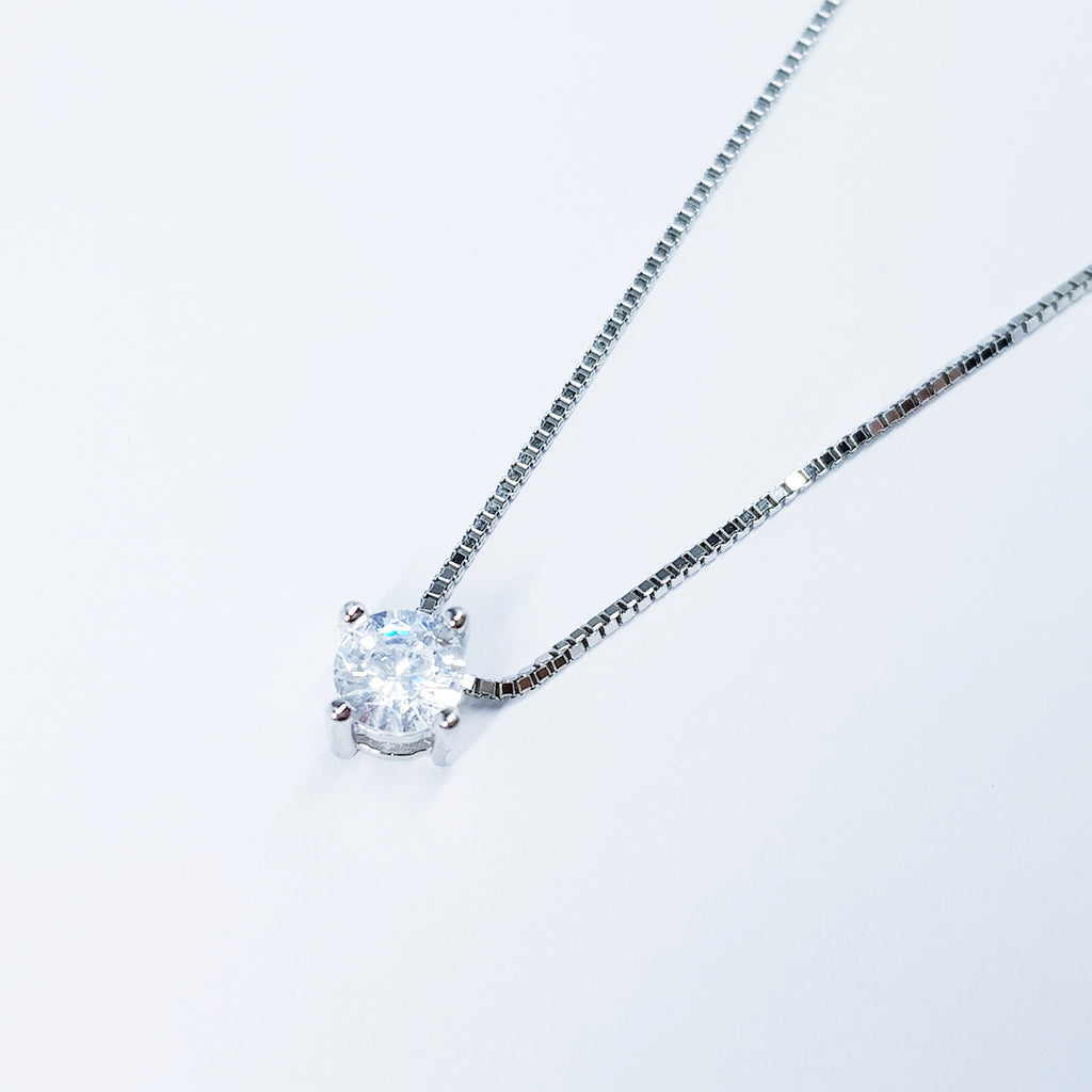 Dainty Sterling Silver floating necklace