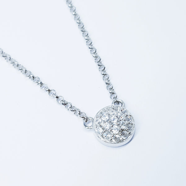 Dainty floating sterling silver necklace