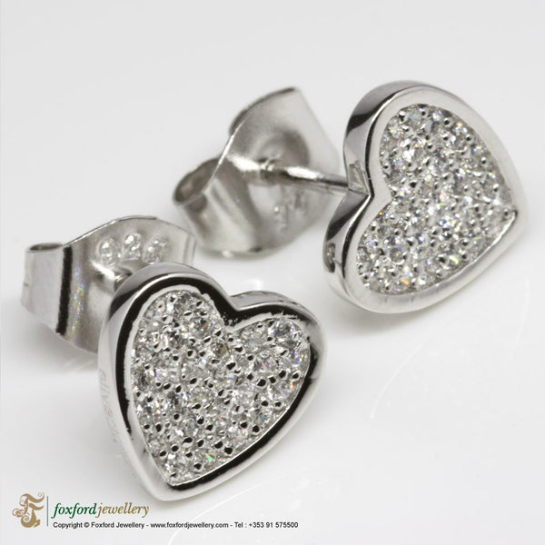 Silver Heart shaped Earrings
