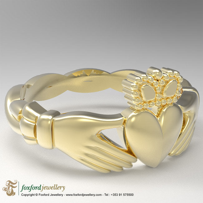 Gold Claddagh Ring, Celtic Claddagh Ring