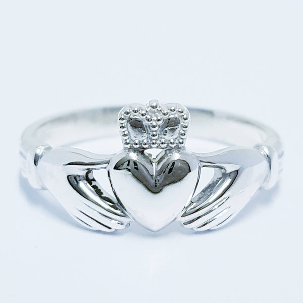 Sterling Silver Claddagh ring, Irish Claddagh ring, made in Galway, Ireland