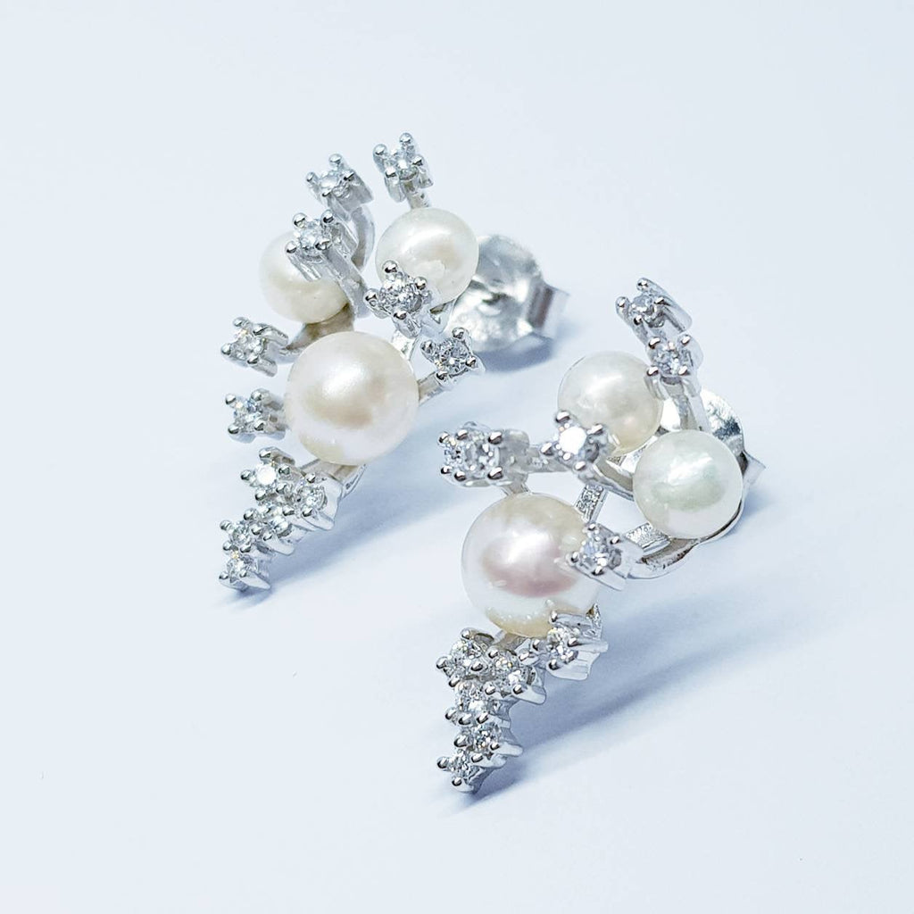 Pearl drop earrings, dress earrings, sterling silver pearl earrings, vintage earrings, bridal earrings, earrings for bridesmaids