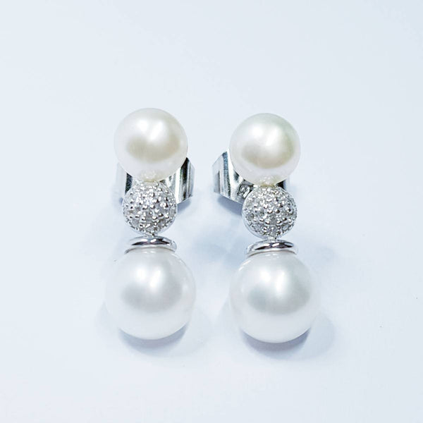 Pearl drop earrings, Statement earrings, pearl earrings for wedding, vintage earrings, old world earrings, earrings for women