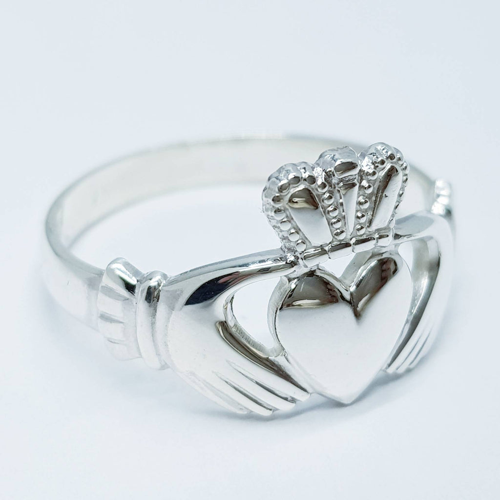 Large Sterling Silver Claddagh ring, Claddagh Ring