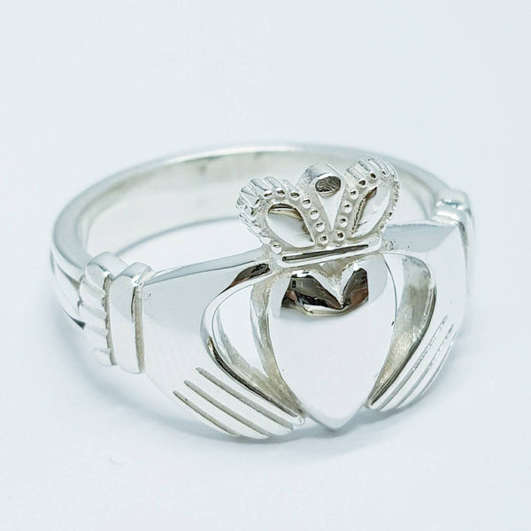 Chunky Sterling Silver Claddagh Ring
