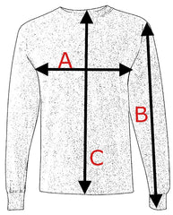 size chart long sleeves