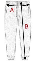 size chart jogging pants