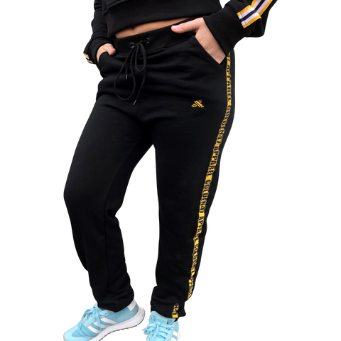 Pitch Black - Unisex Joggers with elastic ankle - golden47apparel
