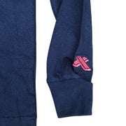 navy blue long-sleeves