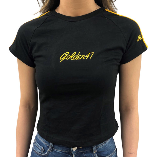 Slim-fit T-shirt for Women - Black - golden47apparel