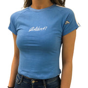 Slim-fit T-shirt for Women - Baby Blue - golden47apparel