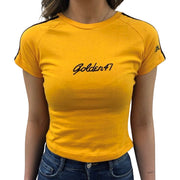 Slim-fit T-shirt for Women - Dark Yellow/Gold - golden47apparel
